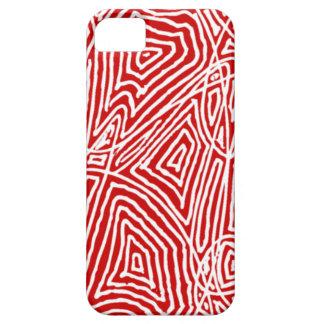 Scribbleprint rojo funda para iPhone 5 barely there