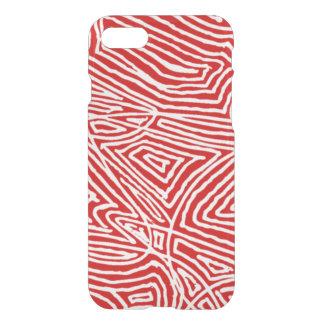 Scribbleprint rojo funda para iPhone 7