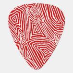 Scribbleprint - rojo uñeta de guitarra