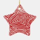 Scribbleprint Star Ornaments