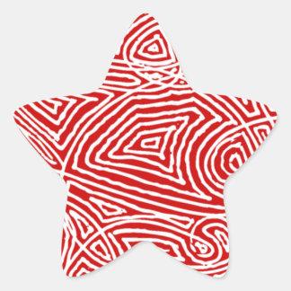 Scribbleprint Star Star Sticker