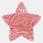 Scribbleprint Star Stickers