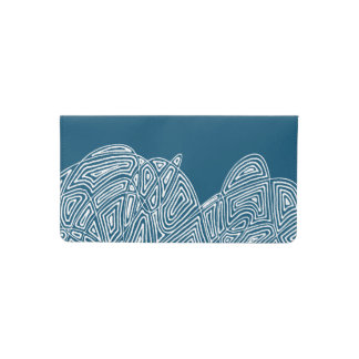 Scribbleprint Waves Checkbook Cover