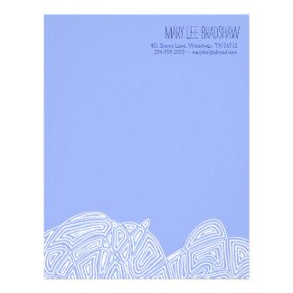 Scribbleprint Waves Letterhead