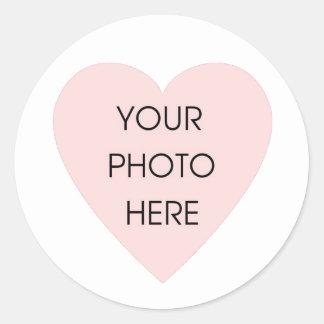Scribbleprint White Heart Border Sticker