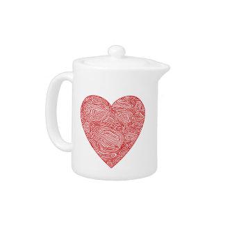 Scribbleprints Heart Teapot