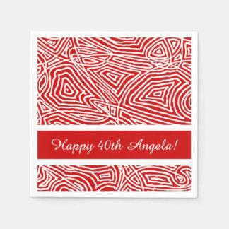 Scribbleprints Red Paper Napkins