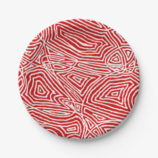 Scribbleprints Red 7 Inch Paper Plate
