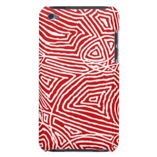 Scribbleprints rojo Case-Mate iPod touch funda