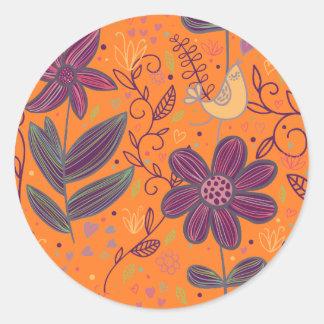 Scribbles Classic Round Sticker