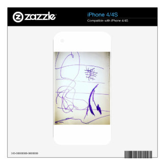 Scribbles Graphs Ideas and Freedom iPhone 4 Decals
