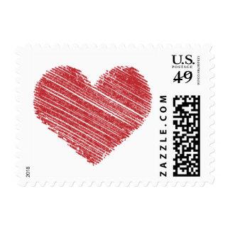 Scribbling Heart Stamp