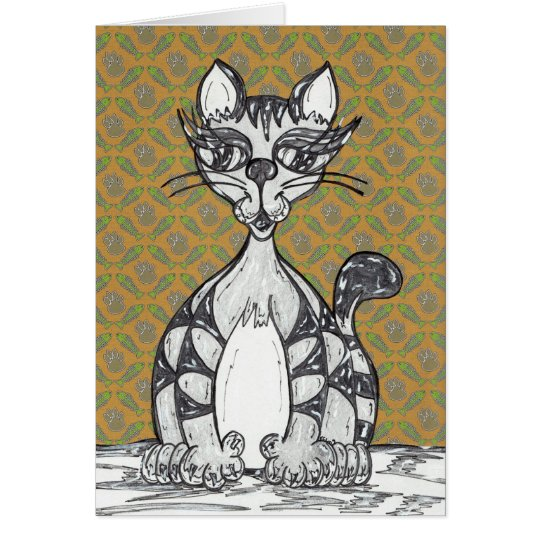 Scribby Cat 21 Card