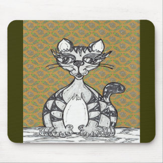 Scribby Cat 21 Mouse Pad