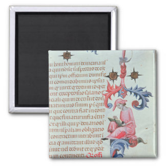 Scribe or chronicler, possibly a self portrait of 2 inch square magnet