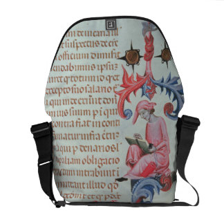 Scribe or chronicler, possibly a self portrait of messenger bag