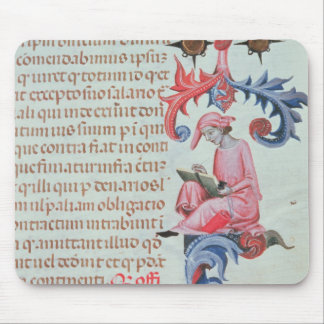 Scribe or chronicler, possibly a self portrait of mouse pad