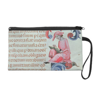 Scribe or chronicler, possibly a self portrait of wristlet purse