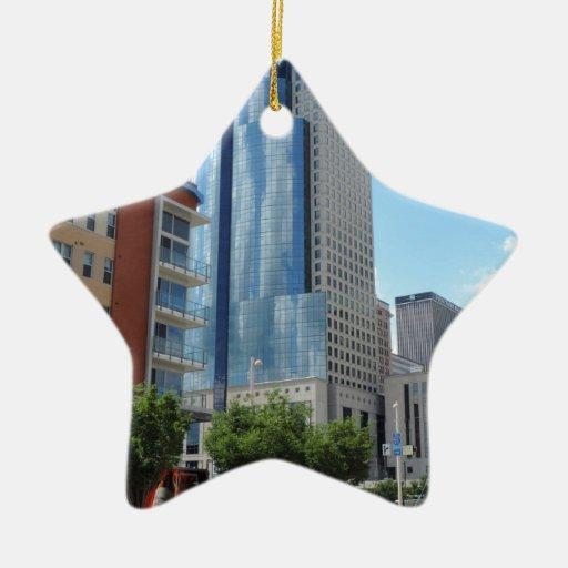 Scripps Center in Cincinnati, Ohio Double-Sided Star Ceramic Christmas Ornament