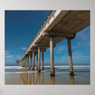 Scripps Pier in San Diego, California Poster