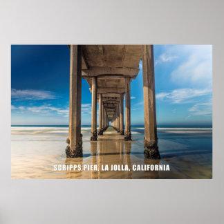 Scripps Pier, La Jolla, California Poster