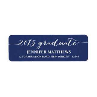 Script 2015 | Graduation Return Address Label