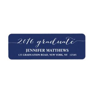 Script 2016 | Graduation Return Address Label