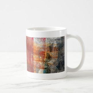 Script abstract design mugs