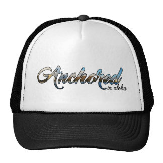 Script Anchored Diamond Head Design Trucker Hat