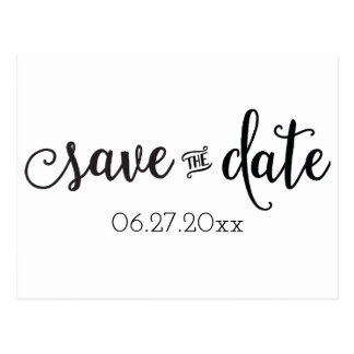 Black And White Save The Dates Postcards Zazzle