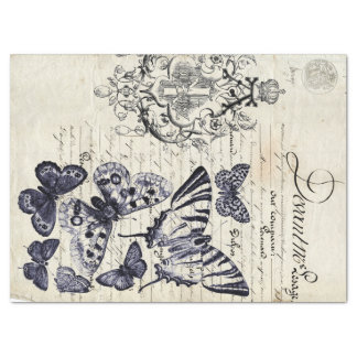 """Script Butterfly Collage Sheet 17"""" X 23"""" Tissue Paper"""