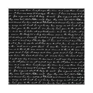 Script Canvas Print