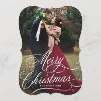Script Christmas Holiday Photo Card
