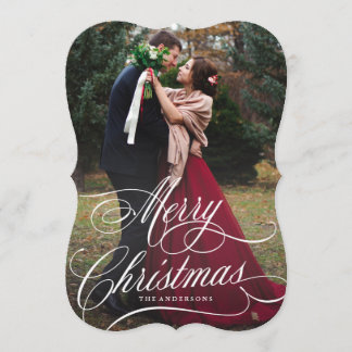 Script Christmas Holiday Photo Card