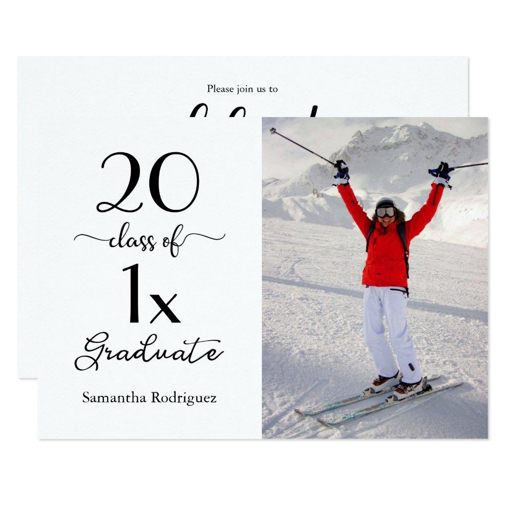 Script Class of [YEAR] Photo Graduation Invitation