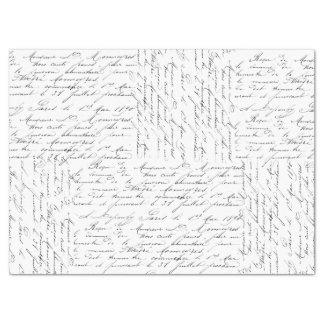 "Script Collage 17"" X 23"" Tissue Paper"