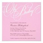 Script Diagonals in Blush Baby Shower Invitation