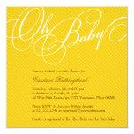 Script Diagonals in Gold Baby Shower Invitation