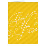 Script Diagonals in Gold Thank You Card