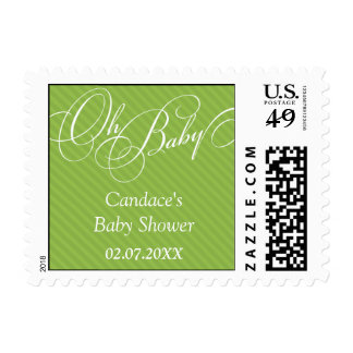 Script Diagonals in Lime Postage