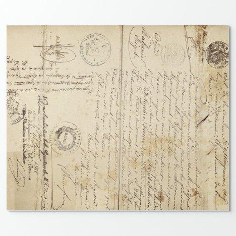 Script Document Furniture Decoupage Paper
