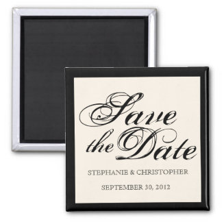 Script Elegance Wedding Save the Date Magnet