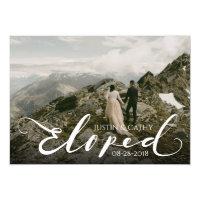 Script Eloped Wedding Marriage Announcement Card