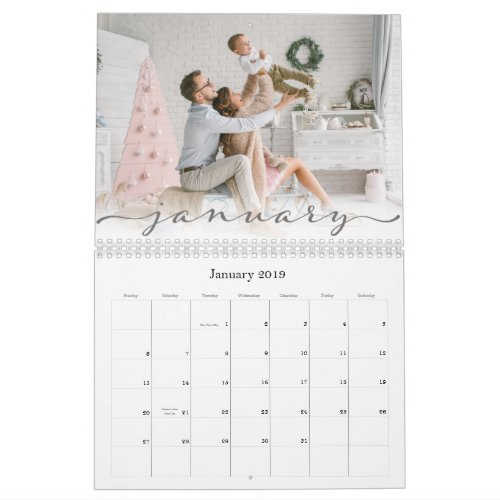 Script Font  2020 Photo Calendar