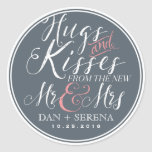 Script Font New Mr and Mrs Wedding Favor Sticker