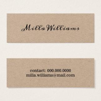 script-font-style minimalist elegant rustic mini business card