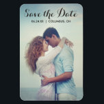 """Script Full Bleed Photo Save the Date Magnet<br><div class=""""desc"""">Photo Save the Date Magnet</div>"""