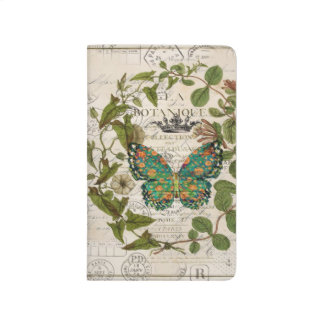 script Leaf Wreath french country butterfly Journal