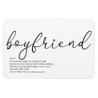 Script Love Heart Boyfriend Definition Magnet