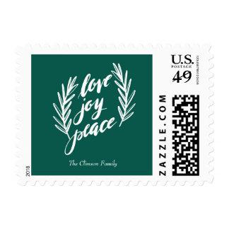 script love, joy, peace Stamp